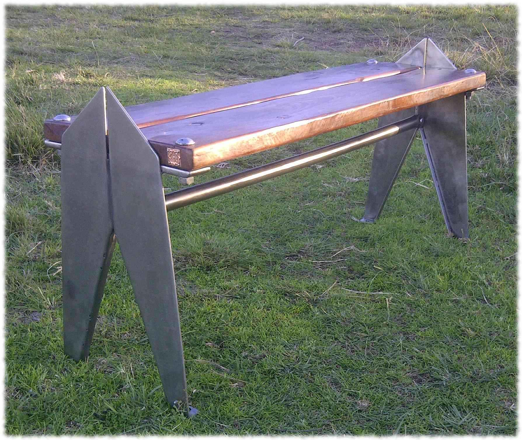 """Iron.Wood"" Bench"