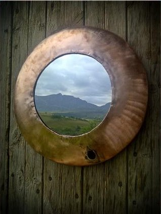 """Nod-to-Louis"" Copper Mirror"