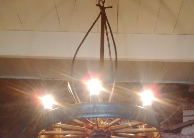 Wheel and Tine chandelier